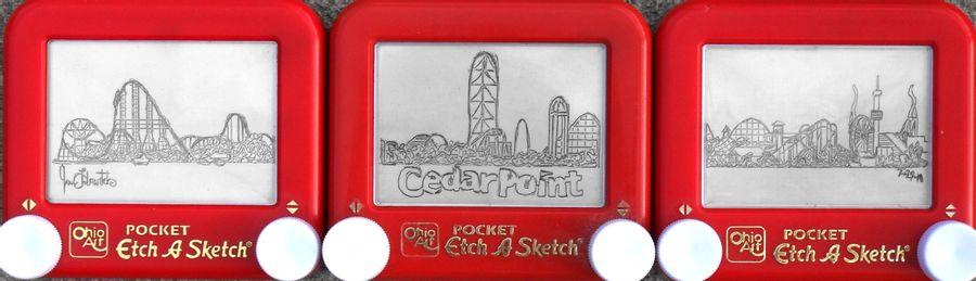 Etchasketch del horizonte de CedarPoint de pikajane