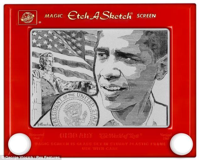 Esfuerzos artísticos: El retrato de Barack Obama tardó 80 horas en producirse