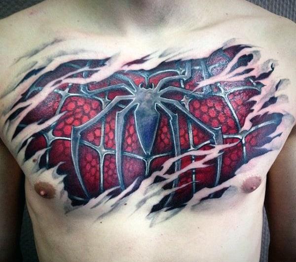 Resultado de imagen para tatuaje de Spiderman
