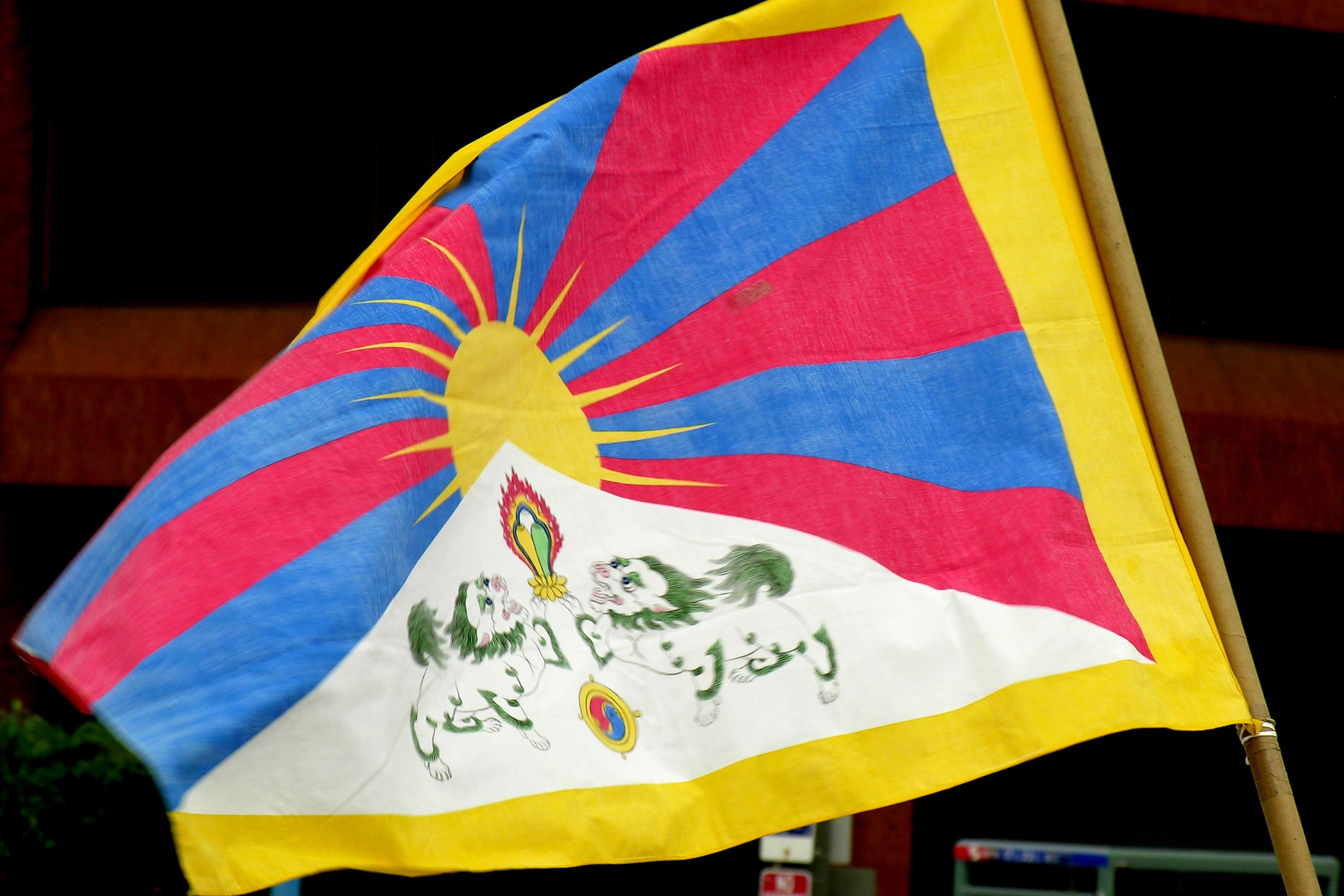 Resultado de imagen de la bandera del Tíbet