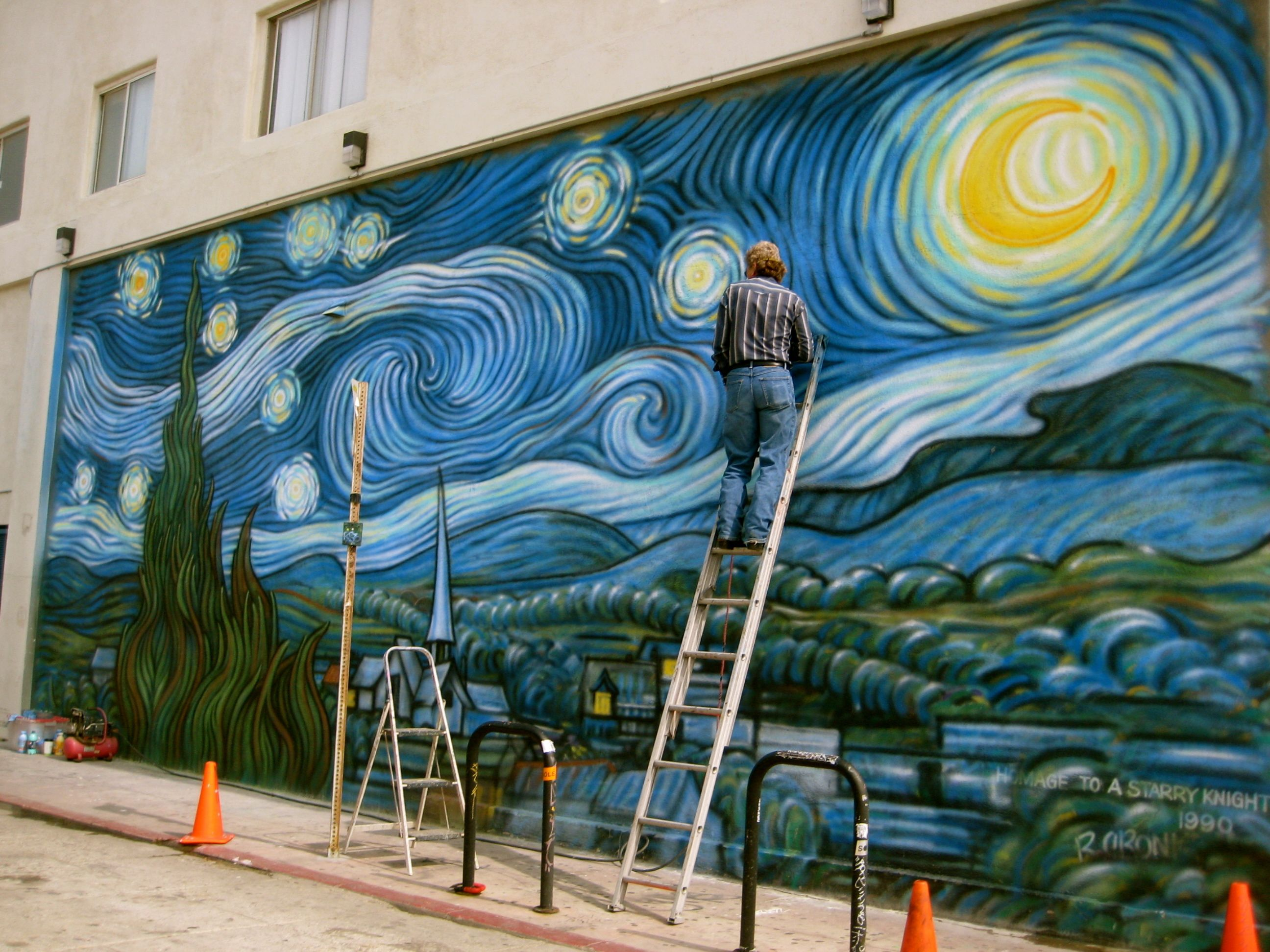 Resultado de imagen para la playa de la noche estrellada de Van Gogh en Venecia